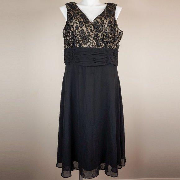 Scarlett Nite Dresses & Skirts - Scarlett Nite Dress Black Lace Surplice Bodice